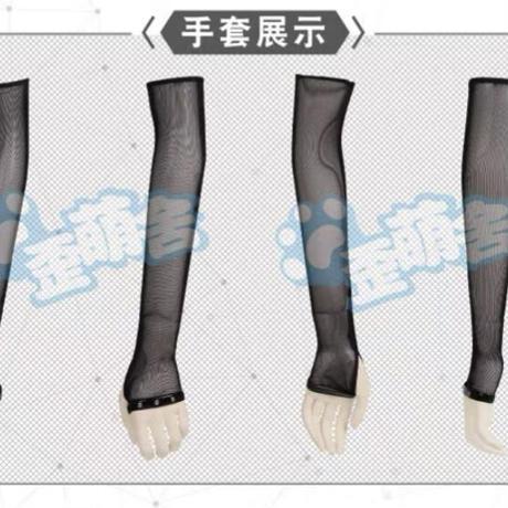 【歪萌舎】エナメルキャットセットアップ