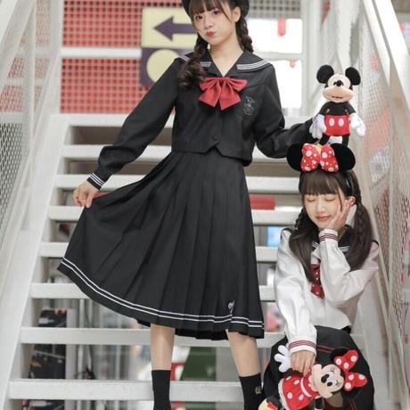 【お取り寄せ】【森女部落】ディズニー公認☆ミッキーミニーセーラー服スカート【2種類】