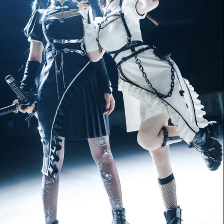 【ご予約】【SUISN】ハーネスチャイナ小物付きフルセット【白/黒】