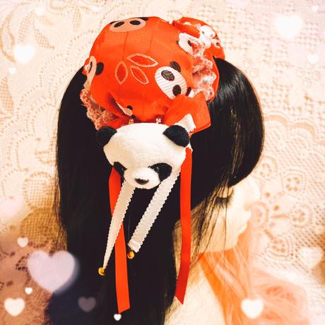 【L.花時季✖はれあめ】お団子ヘアピン専用パンダピン2個セット