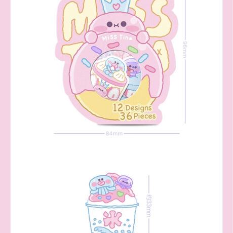MissTinaファンシーフレークシール4点セット②