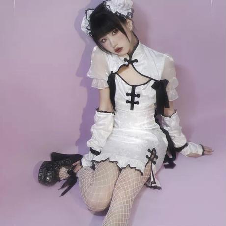 【Stasera】你好熊猫メイドminiアームカバー【2色】