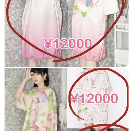 【専用商品】桃のワンピース2種類、パジャマ【M】