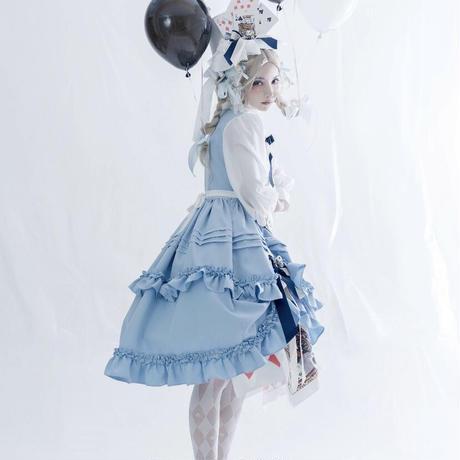 【ご予約】【Nobeing Fashion】不思議の国のOP/JSK+小物セット【2色】