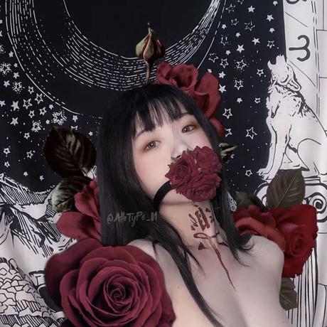 【2色】薔薇のおしゃぶり口枷