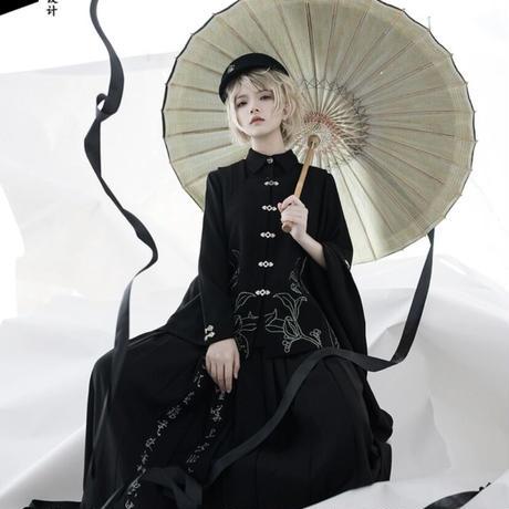 【お取り寄せ】ザクロシリーズ/袴風ロングスカート