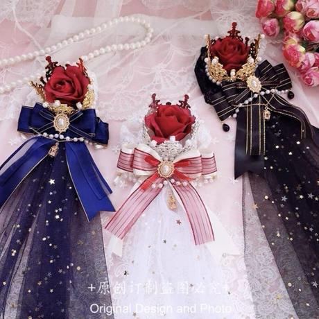 チュール付き薔薇王冠【2色】