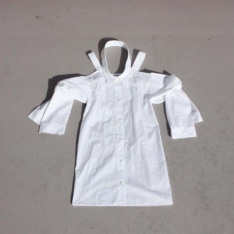 《Akihide Nakachi》ノースリーブ袖付きシャツワンピース