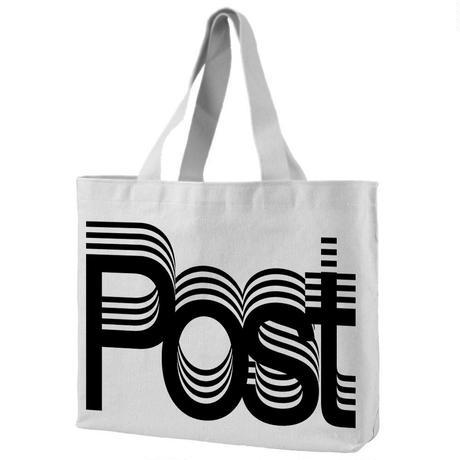 Post-Post totebag designed by Experimental Jetset / Black