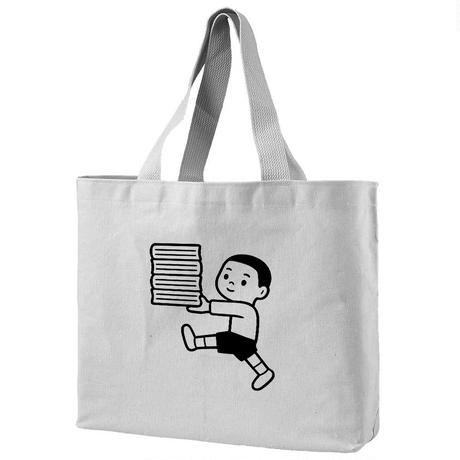 "Noritake Tote Bag  ""HAPPY BOOK BOY"""