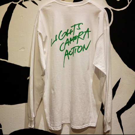 """LIGHTS CAMERA ACTION"" LONG TEE"