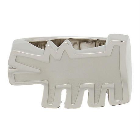 Keith Haring Barking Dog Ring Silver