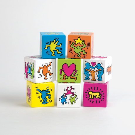 Mudpuppy Keith Haring Wooden Blocks