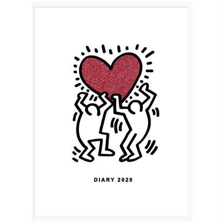Keith Haring 2020年手帳/ダイアリー Holding Heart