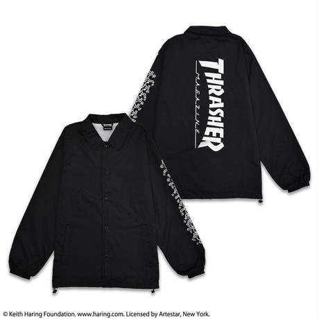 Keith Haring × THRASHER Coach Jacket Black NCJ19