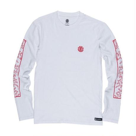 ELEMENT Jump Long Sleeve Tee White