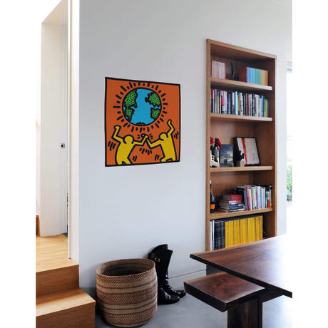BLIK Keith Haring Globe Wall Sticker
