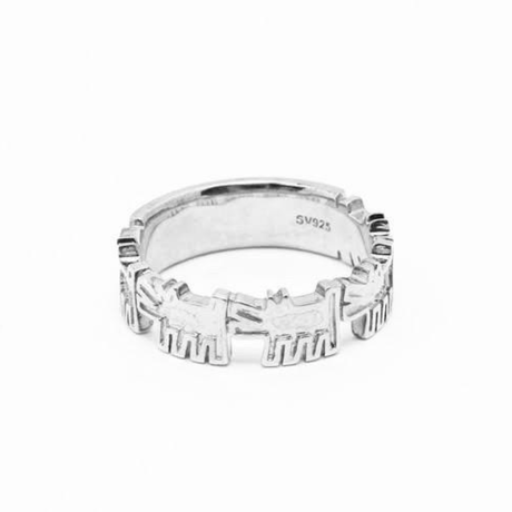 Dogs Ring Silver