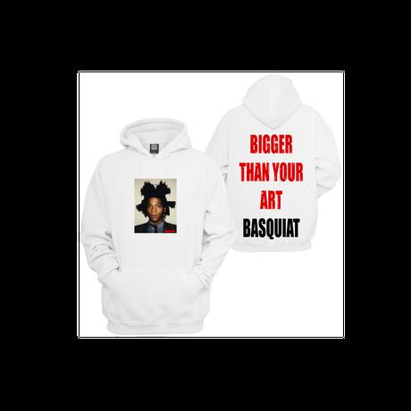 BASQUIAT - BIGGER THAN YOUR ART  Hoodie  White