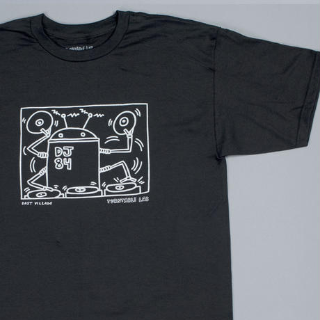 Turntable Lab Robot DJ T-Shirt 【Black】