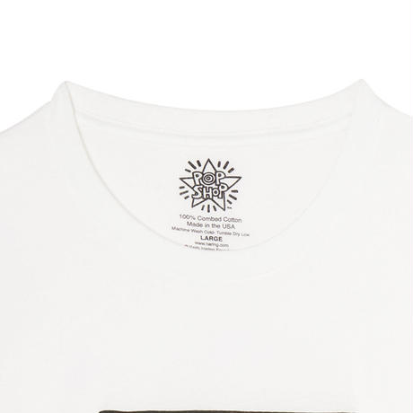 "POPSHOP Keith Haring Unisex T-Shirts ""STOP AIDS "" キース・ヘリング ユニセックス Tシャツ"