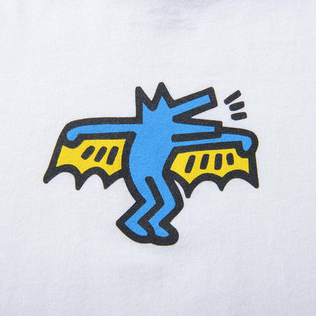 Keith Haring Bat Dog Kids T-Shirt White キース・ヘリング キッズ Tシャツ