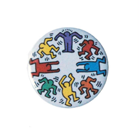 Keith Haring Round Magnet  (Dancing Figures)