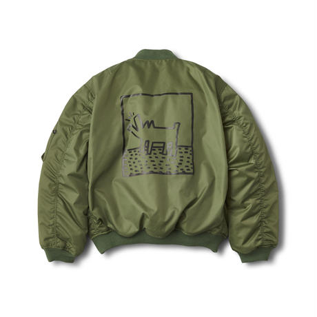 FOSTEX GARMENTS × Keith Haring MA-1 Jacket Olive