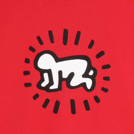"POPSHOP Keith Haring Unisex T-Shirts ""Baby "" Red  キース・ヘリング ユニセックス Tシャツ"