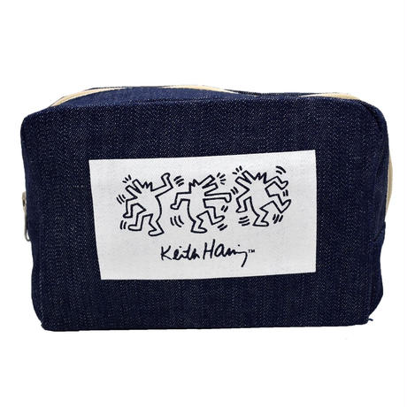 KEITH HARING DANCE DENIM POUCH