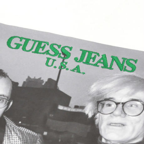 GUESS GREEN LABEL Keith Haring & Andy Warhol Tee (White)