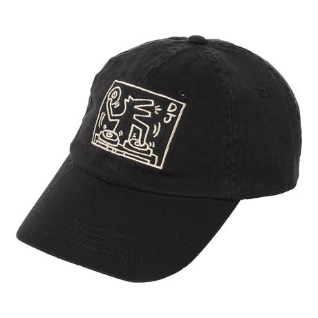 POP SHOP Keith Haring Baseball Cap (DJ Dog) Black