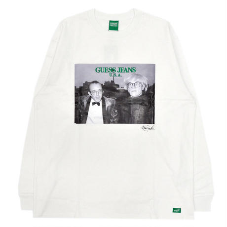 GUESS GREEN LABEL Keith Haring & Andy Warhol Long Sleeve Tee (White)