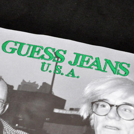 GUESS GREEN LABEL Keith Haring  & Andy Warhol Tee (Black)