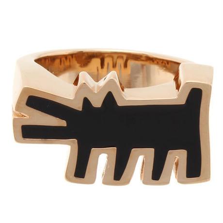 Keith Haring Barking Dog Ring GOLD