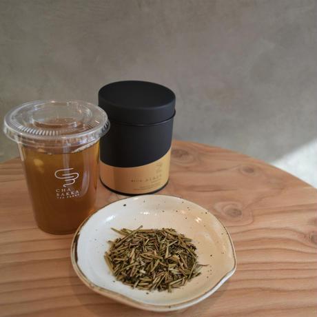 【送料無料】ふくみどり - 棒ほうじ茶 - 茶缶100g茶葉/100g粉末/20個ティーバッグ