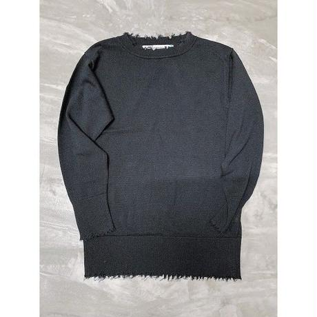 damage knit pullover (BLACK)
