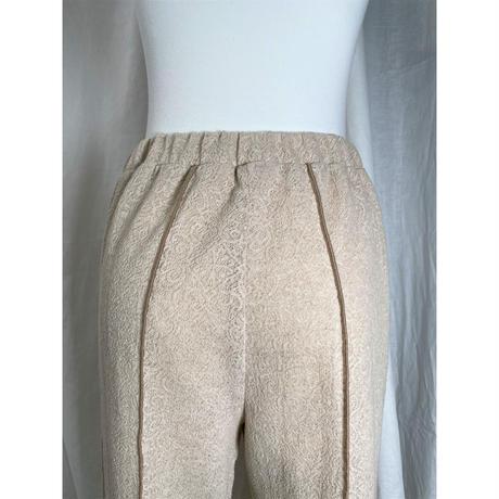 jacquard flare pants(light beige)