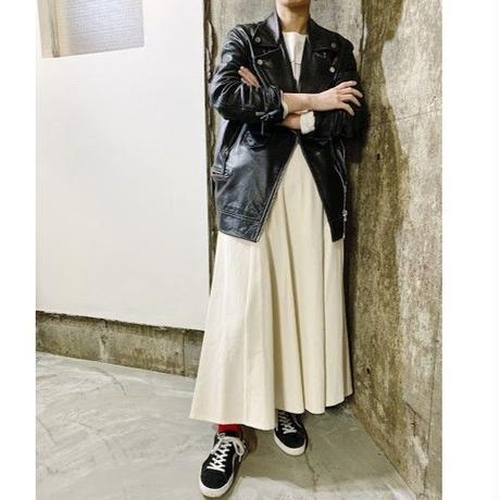 irregular hem skirt (off white)