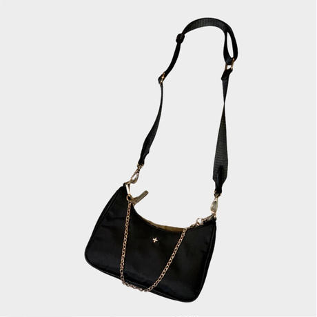 【PETA+JAIN】NYLON 2WAY SHOULDER BAG (black)