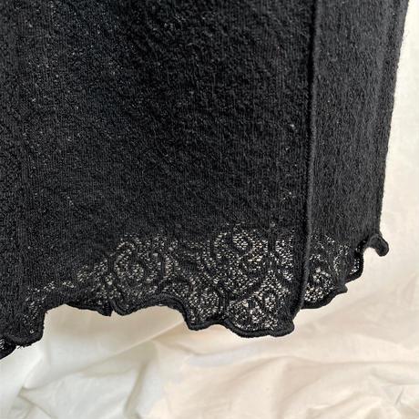 jacquard flare pants(black)