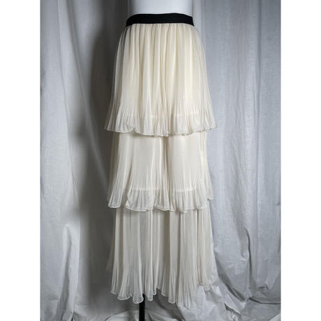 tulle tiered skirt(ivory)