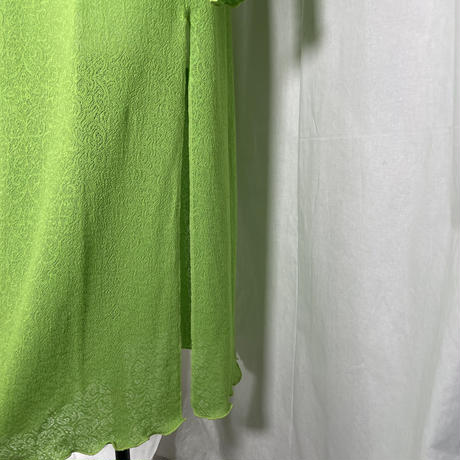 jacquard maxi cut dress(light green)