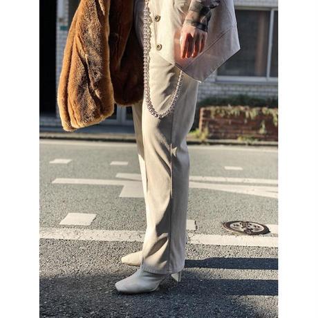 fakesuede pants(ivory)