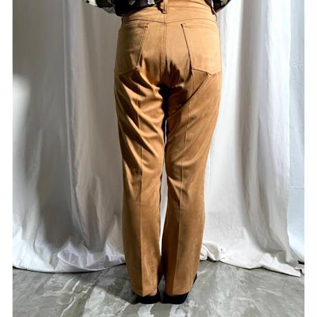 fakesuede pants(camel)