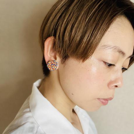 【ミミテチ】刺繍イヤリングC