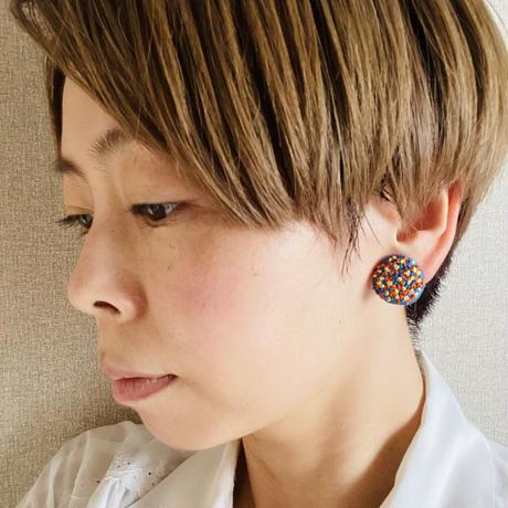 【ミミテチ】刺繍イヤリングA