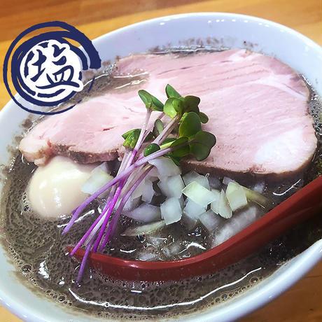 【冷凍便】めんや天夢お土産麺 ヤバニボ塩 1食セット【麺とスープのみ】