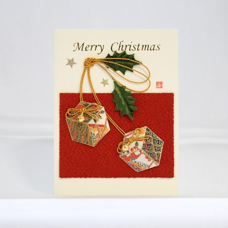 クリスマスカード ちりめん