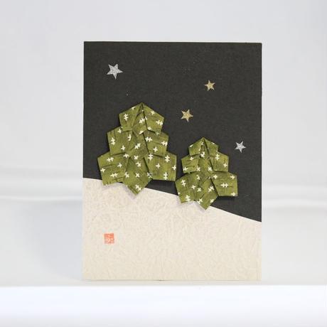 クリスマスカード ツリー